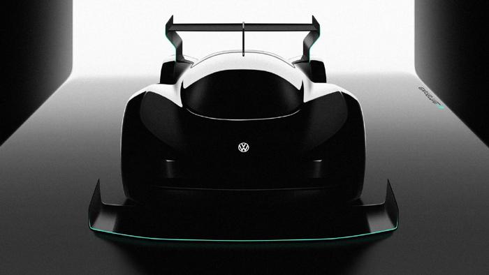 В VW опубликовали новые изображения гоночного электромобиля