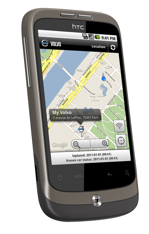 Volvo S80 Mobile App's