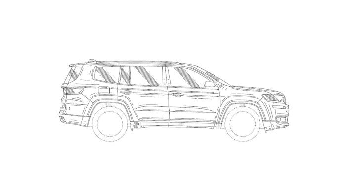 Патентные изображения рассекретили вседорожный автомобиль Jeep Grand Wagoneer