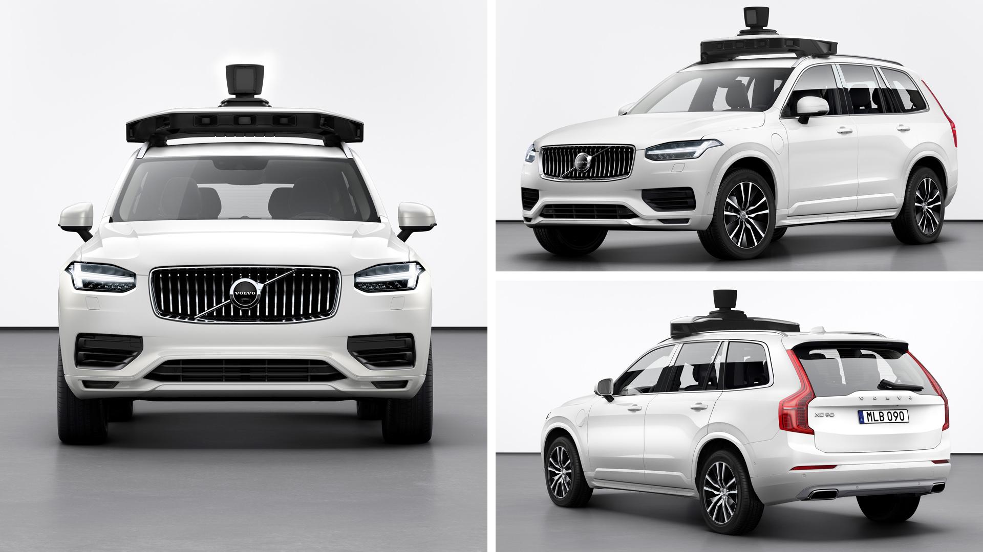 Volvo и Uber беспилотник XC90