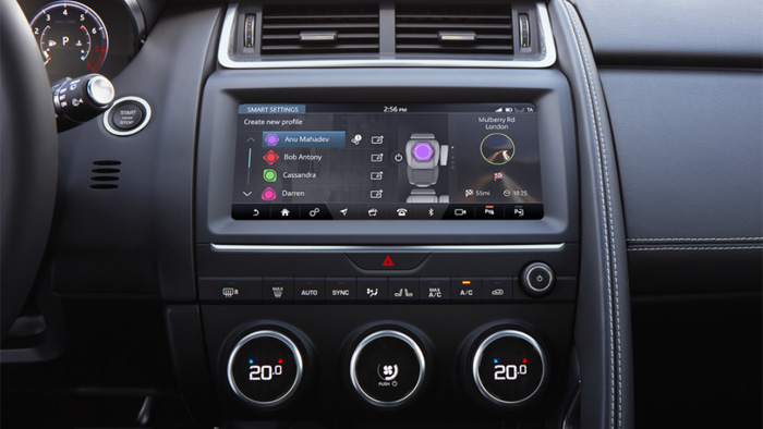технология Jaguar Smart Settings