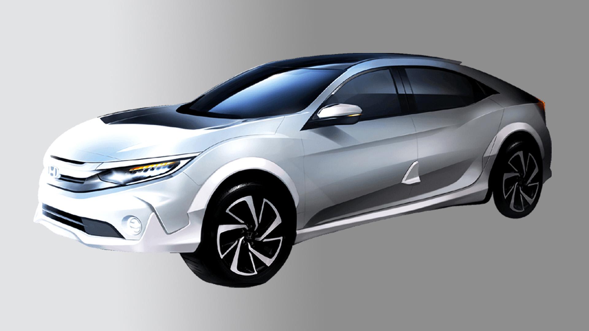 Хонда привезет вТокио внедорожную версию Civic